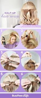 Half Up Hair Wrap 15 Step By Tutorials