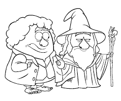 Fresh Hobbit Coloring Pages 47 For Your Picture Page With