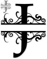 26 best Monogram split letters alphabet images on Pinterest