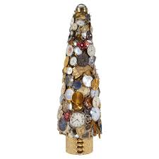 Cracker Barrel White Ceramic Christmas Tree by Christmas Tree Made Of Vintage Watch Faces At 1stdibs