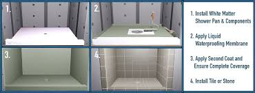 wonderful shower pan installation how to install a shower pan from