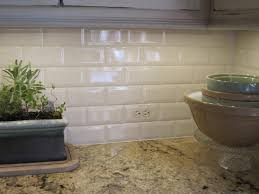 white crackle subway tile backsplash