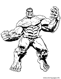 Big Muscle Incredible Hulk Coloring Pages
