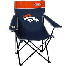 Coleman Denver Broncos Navy Blue-Orange Quad Folding Chair