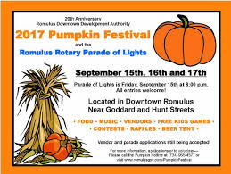 Seymour Pumpkin Festival Parking by Greater Romulus Chamber Of Commerce 2017 Pumpkin Festival
