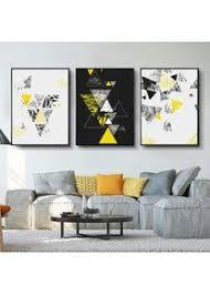 moderne schwarz weiß geometrische wandkunst leinwandbilder