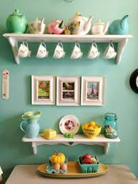 Turquoise Kitchenware With Contemporary White Kitchen Open Shelves Also Utensil Holder And Decor For Besides
