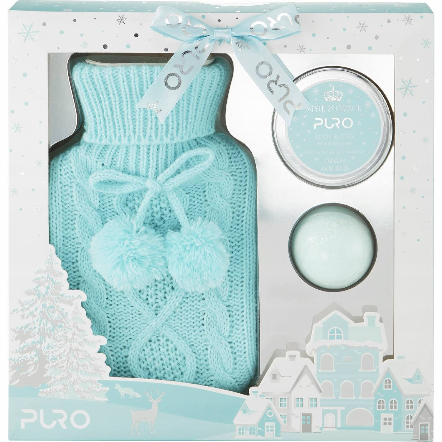 Style and Grace Puro Hot Water Bottle Gift Set