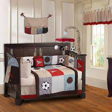 Baby Crib Bedding Sets For Boys by Boys U0027 Sports Crib Nursery Bedding Sets Ebay
