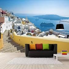 großhandel griechisch ägäis tapeten mediterranen stil wandbild wohnzimmer schlafzimmer tv tapete persönlichkeit mode tapete 3d arkadi arkadi