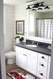 Bathroom Tilt Mirror Hardware by Grey Shaker Cabinets With Oil Rubbed Bronze Pulls And Faucets