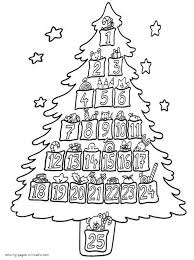 Christmas Tree Printable Coloring Pages Free Online