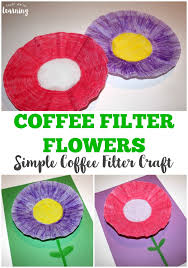 Looking For A Simple Spring Craft Try This Easy Coffee Filter Flower Kids Can