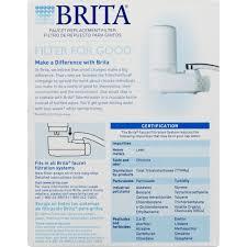Brita Water Filter Faucet Install brita on tap faucet water filter system replacement filters white