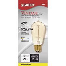 satco st19 incandescent vintage edison decorative light bulb