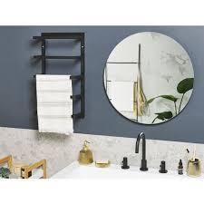 handtuchhalter schwarz stahl 5 arme in matt badeaccessoire badezimmer