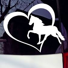 Vinyl Car Decal Horse Heart Laptop Truck Van Car Window Bumper Vinyl ... Fashionable Cute Horse Hrtbeat Decorative Car Sticker Styling In Loving Memory Of Decals Two Quarter Name Date Car Window Amazoncom Eye Candy Signs Running Decal Window Running Horse Truck Trailer Vinyl Decal Decals 7 X70 Ebay Want A Stable Relationship Buy Funny Vinyl Flaming Side Graphics Decal Decals Truck Mustang Trailer Flames Cut Auto Xtreme Digital Graphix Gate Open For Lovers Riders Reflective Heart Creative Cartoon Animal Bull Cow Head Skull Silhouette Body Jdm Art Tilted Cat 14x125cm Noahs Cave
