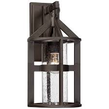 argentine 17 high clear seedy glass outdoor wall light ebay