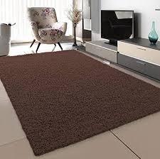 sanat teppich wohnzimmer dunkelbraun hochflor langflor teppiche modern größe 160x230 cm