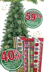 Meijer Black Friday December Home 7 Ft Unlit Cashmere Hard Needle Tree For 5999