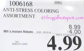 Anti Stress Coloring Books Costco Price Frugal Hotspot