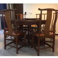 Classic Chinese Solid Rosewood Dining Table With 6 Chairs ... Amazoncom Cjh Nordic Chinese Ding Chair Backrest 66in Rosewood Dragon Motif Table With 8 Chairs China For Room Arms And Leather Serene And Practical 40 Asian Style Rooms Whosale Pool Fniture Sun Lounger Outdoor Chinese Ding Table Lazy Susan Macau Lifestyle Modernistic Hotel Luxury Wedding Photos Rosewood Set Firstframe Pure Solid Wood Bone Fork