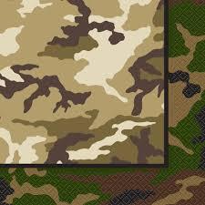 Army Camo Bathroom Set by Military Camo Paper Napkins Camo Themed Party Supplies