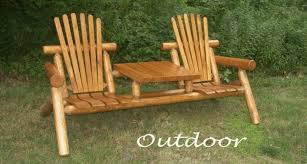 Amazing Catchy Outdoor Log Furniture Rustic The Inside Attractive