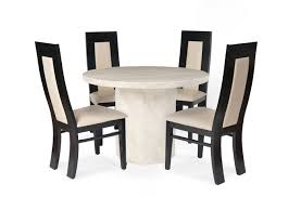 luxury white round dining table set for 4 eva furniture