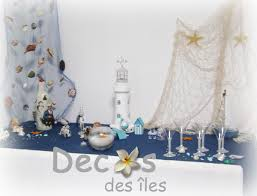 décoration de mariage thème mer et nacre