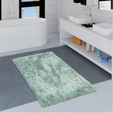 moderne badematte badezimmer teppich shaggy kuschelig weich einfarbig türkis grösse 40x55 cm