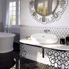 Mosaic Tile Chantilly Virginia by Rhombus Shape Carrara White And Bardiglio Nuvolato Marble Waterjet