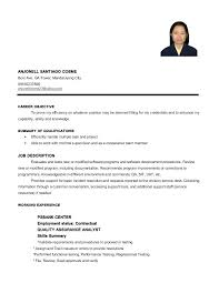 Sample Resume Restaurant Service Crew Feat Fair For In The With S