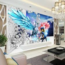Free Shipping 3D Stereoscopic Illusion Painting Art Graffiti Wall