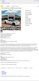 100 Craigslist Western Mass Cars And Trucks For 33500 Could This 2011 Lotus Evora Be Your Everything