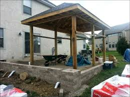 How To Attach A Patio Roof To An Existing House Outdoor Wonderful