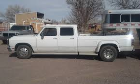 100 Dodge Dually Trucks 1993 Cummins 4 Door 5 Speed Rare Clean