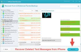 How to Recover Deleted Text Messages on iPhone Free without with
