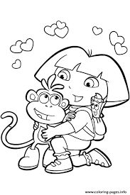 Coloring Pages For Girls Dora And Friends790d Print Download