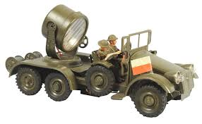 100 Truck Spot Light June 22nd Auction Hausser Tinplate Military Light