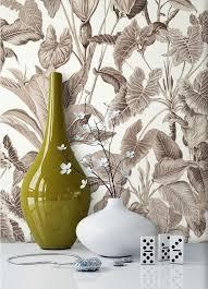 newroom vliestapete blumentapete braun wallpaper floral blumen tapete dschungel natur wohnzimmer schlafzimmer büro flur kaufen otto