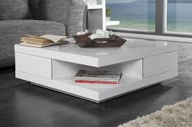 table basse salon blanc laque design en image