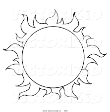 Vector Of A Coloring Page Full Summer Sun Royalty Free Print