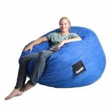 5 Ft Royal Blue Large Foam Bean Bag Chair Microfiber Suede SLACKER Sack Foof Beanbag