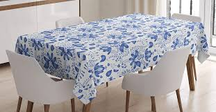 Amazon.com: Lunarable Blue Floral Tablecloth, Traditional ... Chair Upholstered Floral Design Ding Room Pattern White Green Blue Amazoncom Knit Spandex Stretch 30 Best Decorating Ideas Pictures Of Fall Table Decor In Shades For A Traditional Dihou Prting Covers Elastic Cover For Wedding Office Banquet Housse De Chaise Peacewish European Style Kitchen Cushions 8pcs Print Set Four Seasons Universal Washable Dustproof Seat Protector Slipcover Home Party Hotel 40 Designer Rooms Hlw Arbonni Fabric Modern Parson Chairs Wooden Ding Table And Chairs Room With Blue Floral 15 Awesome To Enjoy Your Meal