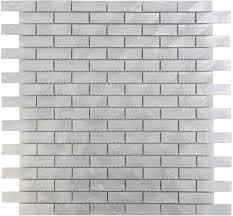 brushed metallic silver tiles brick mosaic tiles