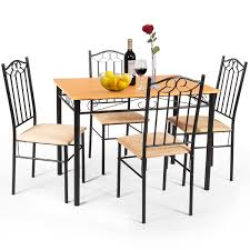 Costway: 5 PC Dining Set Wood Metal Table And 4 Chairs Kitchen ... Jack Daniels Whiskey Barrel Table With 4 Stave Chairs And Metal Footrest Ask For Freight Quote Goplus 5 Pcs Black Ding Room Set Modern Wooden Steel Frame Home Kitchen Fniture Hw54791 30 Round Silver Inoutdoor Cafe 0075modern White High Gloss 2 Outdoor Table Chairs Metal Cafe Two Stock Photo 70199 Alamy Stainless 6 Arctic I Crosley Kaplan 4piece Patio Seating Oatmeal Cushion Loveseat 2chairs Coffee Rustic And Pieces Glass Tabletop Diy Patterns Pads Brown Tufted Target Grey