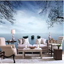 fototapete schöne seelandschaft ansicht coole wohnzimmer tv
