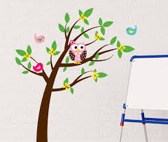 Tree Wall Decor Baby Nursery by Simple Playroom Decor With Baby Nursery Owl Tree Wall Decals And