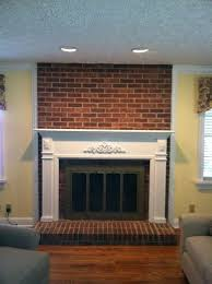 Paint Colors Living Room Red Brick Fireplace by Painting Brick Fireplace